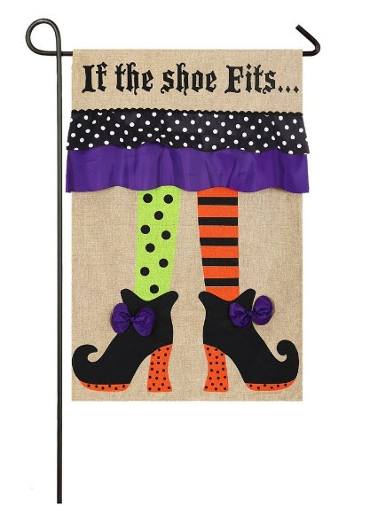 If The Shoe Fits Fall Garden Flags