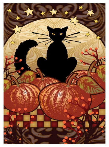 Toland the Midnight Cat Fall Garden Flags
